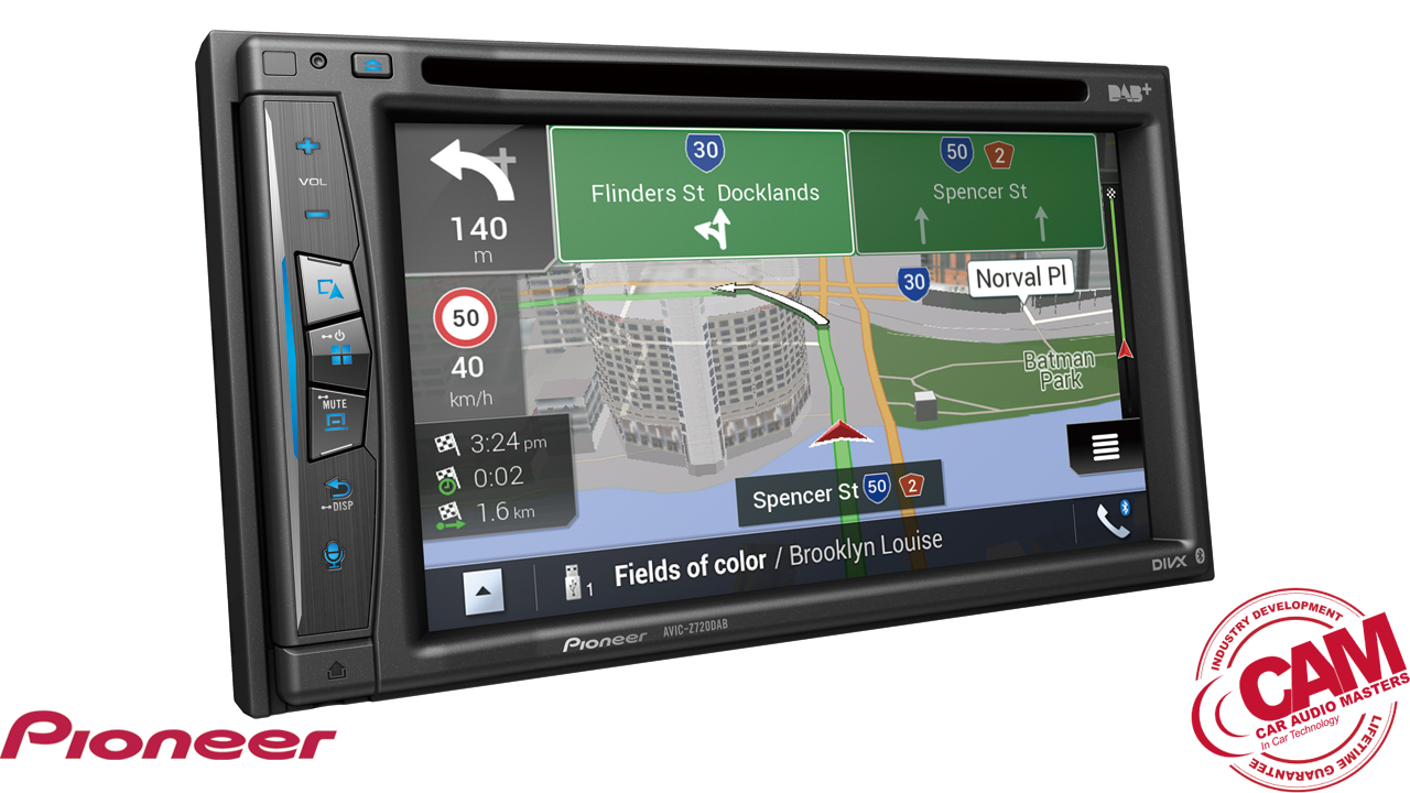 pioneer avicz720dabs multi media navigation.
